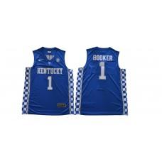 Men Kentucky Wildcats 1 Booker Blue NBA NCAA Jerseys