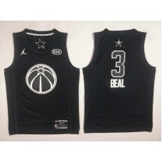 Men Washington Wizards 3 Beal Black 2108 All Stars NBA Jerseys
