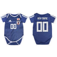 2018 World Cup Japan home baby clothes customized blue soccer jersey