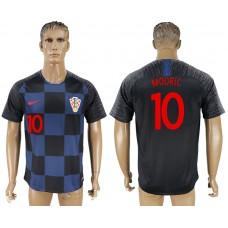 Men 2018 World Cup Croatia away aaa version 10 blue soccer jersey