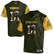 Men Norte Dame Fighting Irish 12 Wimbush Green Fashion Edition Customized NCAA Jerseys