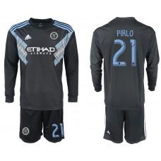 2018-2019 Club Men New York City away long sleeve 21 soccer jersey