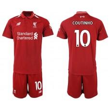 2018-2019 Men club Liverpool home 10 soccer jersey