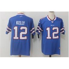 Men Buffalo Bills 12 Kelly Blue Nike Vapor Untouchable Limited NFL Jerseys