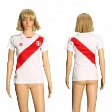 2018 World Cup Peru home women soccer jersey
