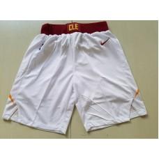 2018 Men NBA Nike Cleveland Cavaliers white shorts