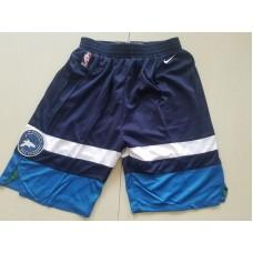 2018 Men NBA Nike Minnesota Timberwolves blue shorts