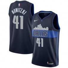 Men Dallas Mavericks 41 Nowitzki Dark Blue Game Nike NBA Jerseys