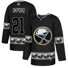 2019 Men Buffalo Sabres 21 Okposo Black Adidas NHL jerseys