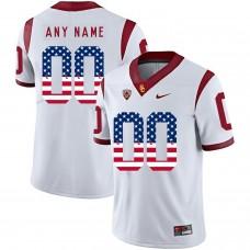 Men USC Trojans 00 Any Name White Flag Customized NCAA Jerseys