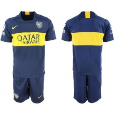Men 2018-2019 club Boca Juniors home blank blue soccer jersey