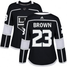 Adidas Los Angeles Kings 23 Dustin Brown Black Home Authentic Women Stitched NHL Jersey
