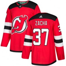 Adidas Men New Jersey Devils 37 Pavel Zacha Red Home Authentic Stitched NHL Jersey