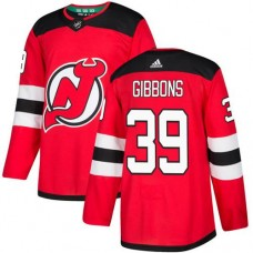 Adidas Men New Jersey Devils 39 Brian Gibbons Red Home Authentic Stitched NHL Jersey