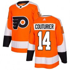 Adidas Men Philadelphia Flyers 14 Sean Couturier Orange Home Authentic Stitched NHL Jersey