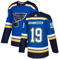 Adidas Men St.Louis Blues 19 Jay Bouwmeester Blue Home Authentic Stitched NHL Jersey