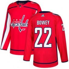 Adidas Men Washington Capitals 22 Madison Bowey Red Home Authentic Stitched NHL Jersey