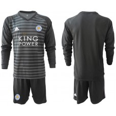 Men 2018-2019 club Leicester City black long sleeve goalkeeper Soccer Jerseys