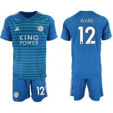 Men 2018-2019 club Leicester City blue goalkeeper 12 soccer jersey
