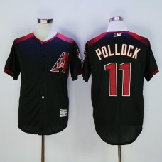 Men Arizona Diamondback 11 Pollock Black MLB Jerseys