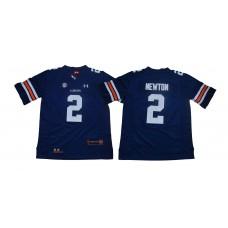 Men Auburn Tigers 2 Newton Blue SEC NCAA Jerseys
