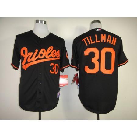 Men Baltimore Orioles 30 Tillman Black MLB Jerseys
