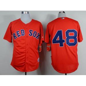 Men Boston Red Sox 48 Sandoval Red MLB Jerseys