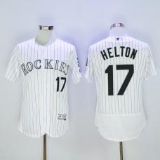 Men Colorado Rockies 17 Helton White MLB Jerseys