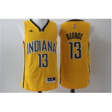 Men Indiana Pacers 13 George Yellow Adidas NBA Jersey