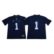 Men Penn State Nittany Lions 1 Joe Paterno Navy Blue Nike NCAA Jerseye