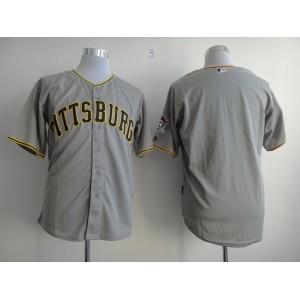 Men Pittsburgh Pirates Blank Grey MLB Jerseys