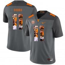 Men Tennessee Volunteers 11 Dobbs Grey Fashion Edition Customized NCAA Jerseys