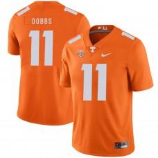 Men Tennessee Volunteers 11 Dobbs Orange Customized NCAA Jerseys