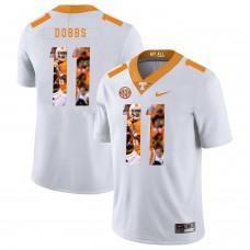 Men Tennessee Volunteers 11 Dobbs White Fashion Edition Customized NCAA Jerseys