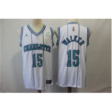Men Charlotte Hornets 15 Walker White Jordan Swingman Hardwood Classics NBA Jersey