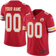 2019 NFL Men Nike Kansas City Chiefs Home Red Customized Vapor jersey