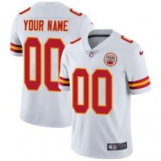 2019 NFL Men Nike Kansas City Chiefs Road White Customized Vapor jersey