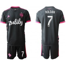 Men 2019-2020 club Seattle Sounders away 7 black Soccer Jerseys