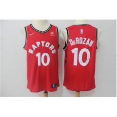 2019 Men Toronto Raptors 10 Derozan Red Game Nike NBA Jerseys