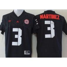 Men Nebraska Huskers 3 Martinez Black NCAA jerseys