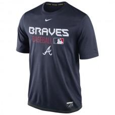 2016 MLB Atlanta Braves Nike Legend Team Issue Performance T-Shirt - Navy