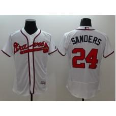 2016 MLB FLEXBASE Atlanta Braves 24 Sanders white jerseys
