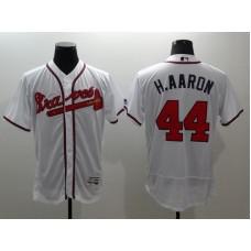 2016 MLB FLEXBASE Atlanta Braves 44 H.Aaron white jerseys