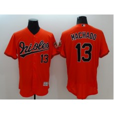 2016 MLB FLEXBASE Baltimore Orioles 13 Machado Orange Jersey