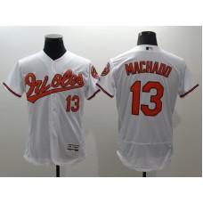 2016 MLB FLEXBASE Baltimore Orioles 13 Machado white jerseys
