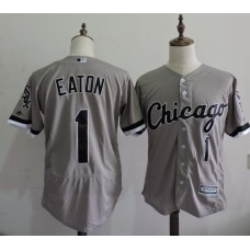 2016 MLB FLEXBASE Chicago White Sox 1 Adam Eaton Grey Elite Jerseys