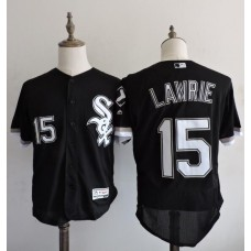 2016 MLB FLEXBASE Chicago White Sox 15 Lawrie Black Elite Jerseys