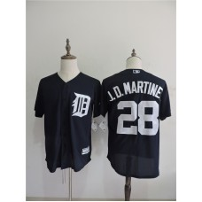 2016 MLB FLEXBASE Detroit Tigers 28 J.D.Martine Blue Jerseys