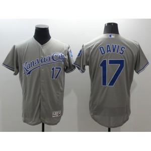 2016 MLB FLEXBASE Kansas City Royals 17 Wade Davis Grey Jerseys