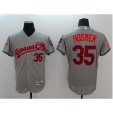 2016 MLB FLEXBASE Kansas City Royals 35 Hosmer Grey Fashion Jerseys